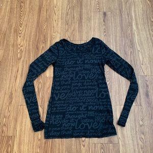 Lululemon long sleeve shirt top size 8 medium